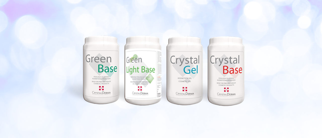 Bases for formulation of cosmetic products - Crystal Derma