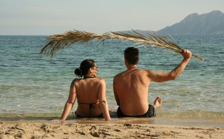 Par na plaži